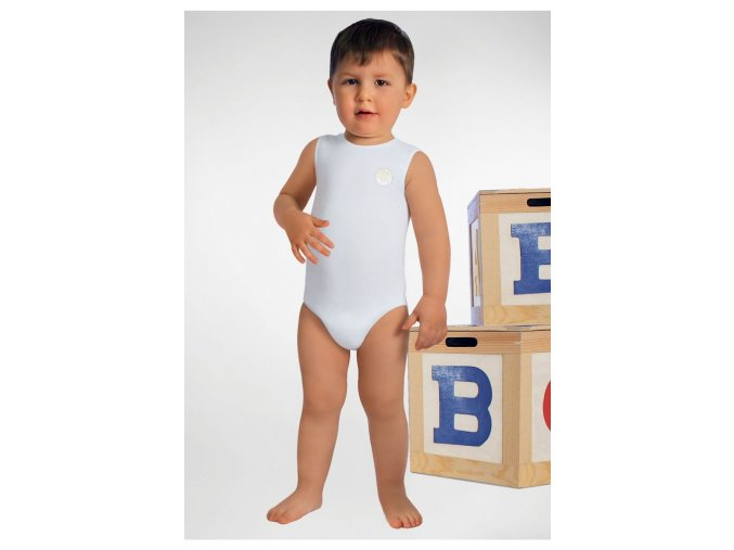 Dětské body bez rukávů z mléčného vlákna