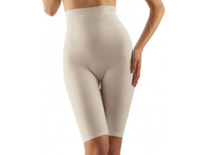 Masážní kalhotky nad kolena s vysokým pasem, mléčné vlákno
