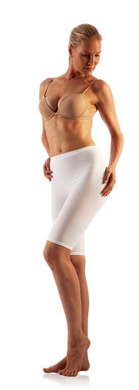 FarmaCell Masážní kalhotky nad kolena Barva: Bílá, Velikost: XXL