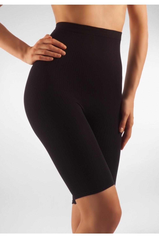 FarmaCell Masážní kalhotky nad kolena s vysokým pasem Barva: Černá, Velikost: S/M