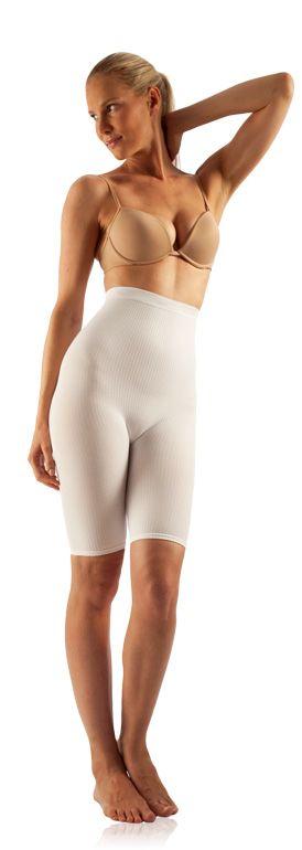 FarmaCell Masážní kalhotky nad kolena s vysokým pasem Barva: Bílá, Velikost: S/M