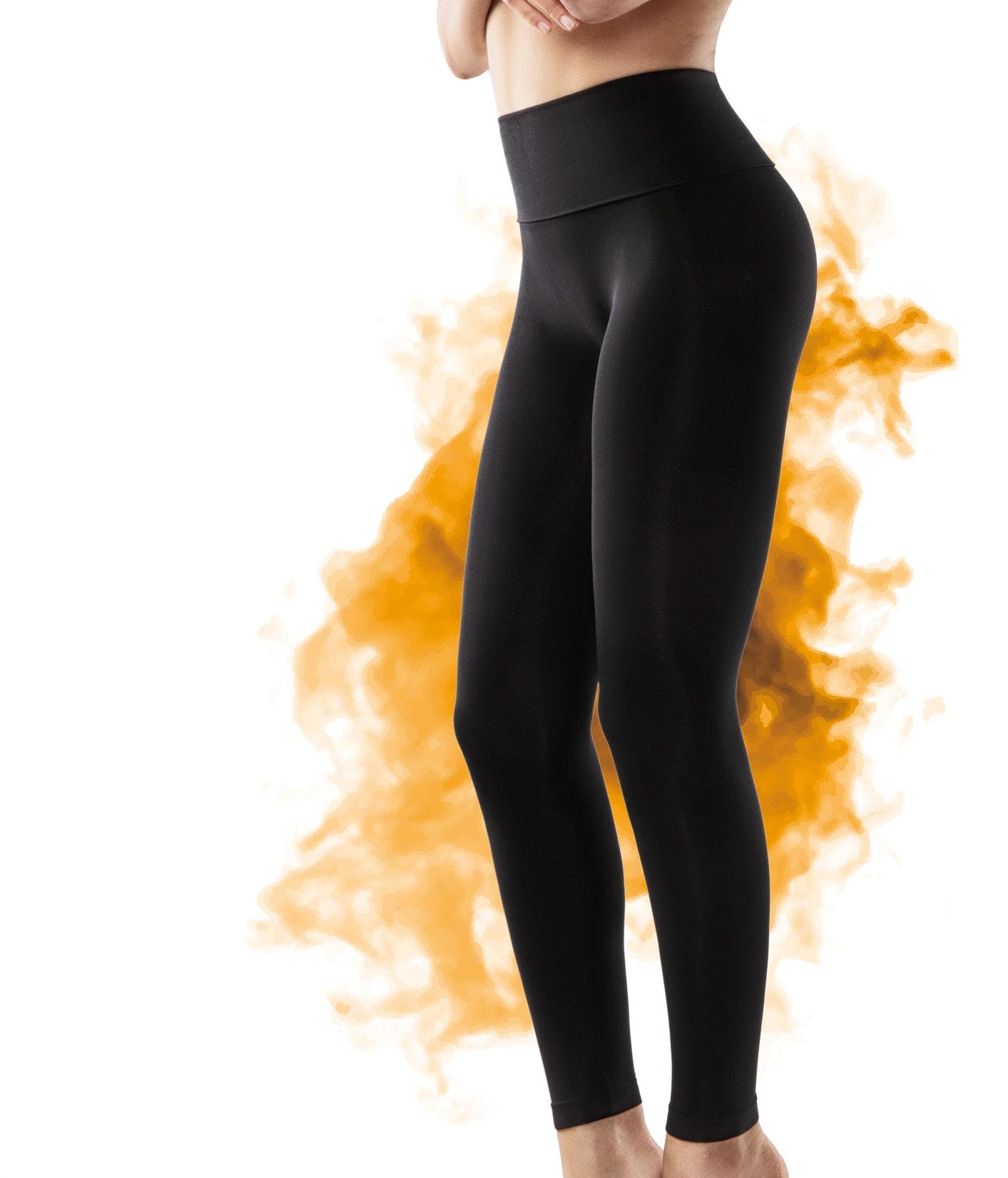 FarmaCell Legíny proti celulitidě a pro hubnutí pomocí FIR efektu Barva: Černá, Velikost: S
