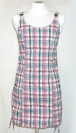 O.K. SPORT Dámské šaty Nepál kostka (Bavlna) Barva: Růžová, Velikost: XXXL