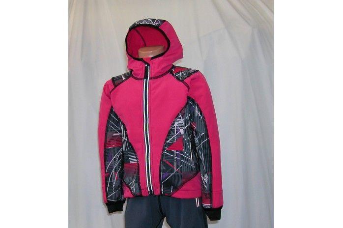 O.K. SPORT Dětská bunda SPIRIT volnějšího střihu s kapucí (s potiskem) Barva: Růžová, Velikost: 86