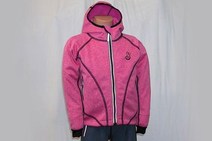 O.K. SPORT Dětská bunda SPIRIT volnějšího střihu s kapucí (melír) Barva: Růžová, Velikost: 80