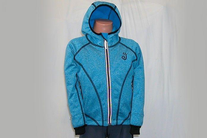 O.K. SPORT Dětská bunda SPIRIT volnějšího střihu s kapucí (melír) Barva: Modrá, Velikost: 92