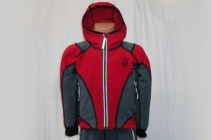 O.K. SPORT Dětská bunda SPIRIT volnějšího střihu s kapucí (2 barvy) Barva: Červená, Velikost: 86