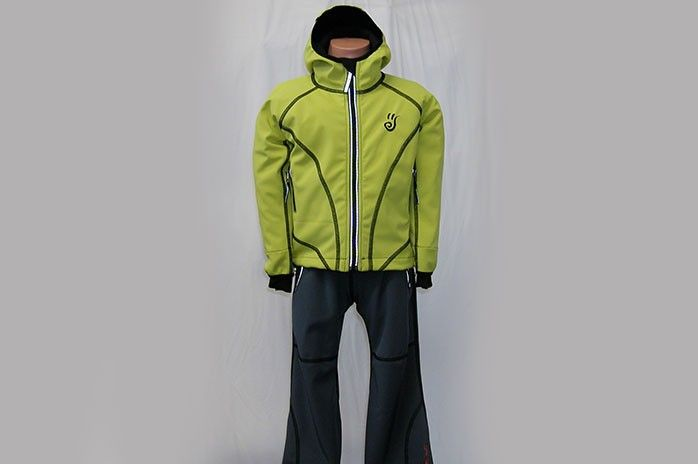 O.K. SPORT Dětská bunda SPIRIT volnějšího střihu s kapucí (1 barva) Barva: Žlutozelinkavá, Velikost: 86