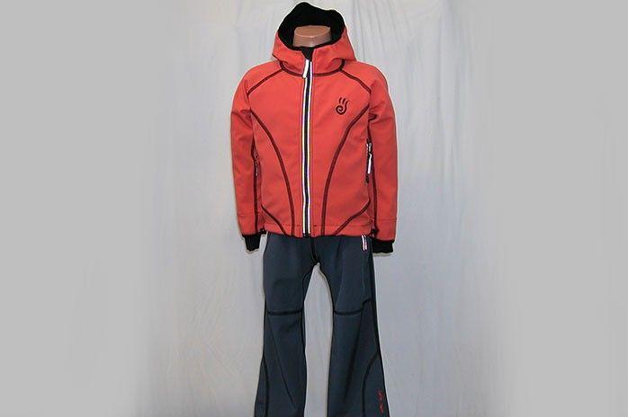O.K. SPORT Dětská bunda SPIRIT volnějšího střihu s kapucí (1 barva) Barva: Oranžová, Velikost: 92