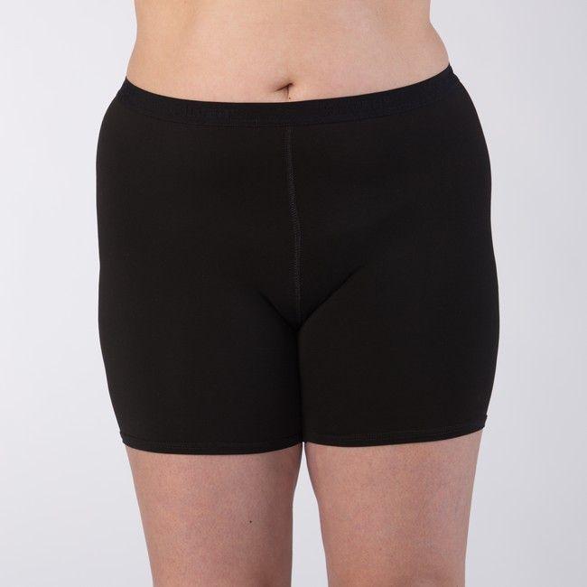 Silver+ Dámské boxerky s delší nohavičkou Barva: Černá, Velikost: L