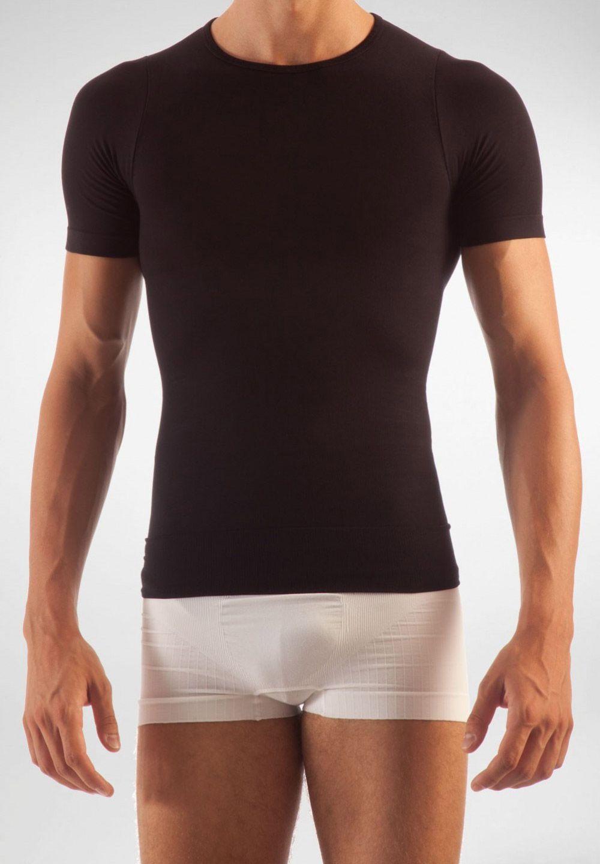 FarmaCell Pánské zeštíhlující tričko s krátkým rukávem Barva: Černá, Velikost: S