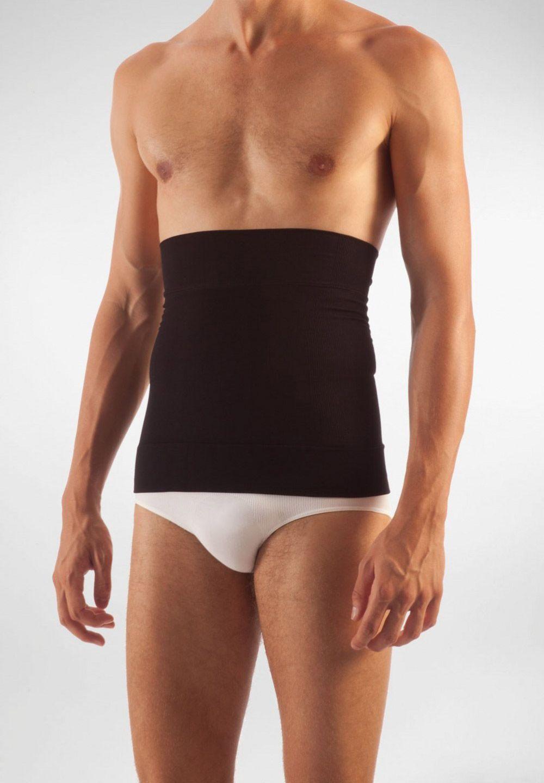 FarmaCell Pánský zeštíhlující pás na břicho z mikrovlákna Barva: Černá, Velikost: S