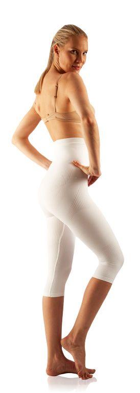 FarmaCell Masážní a zeštíhlující kalhotky pod kolena Fitness Barva: Bílá, Velikost: S/M