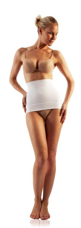 FarmaCell Zeštíhlující pás na břicho a boky Barva: Bílá, Velikost: S