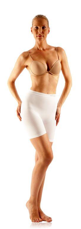 FarmaCell Masážní a zeštíhlující polostehenní kalhotky Barva: Bílá, Velikost: XXL