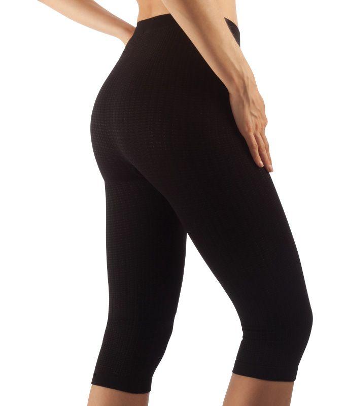 FarmaCell Masážní kalhotky pod kolena, stříbrné vlákno Barva: Černá, Velikost: M/L