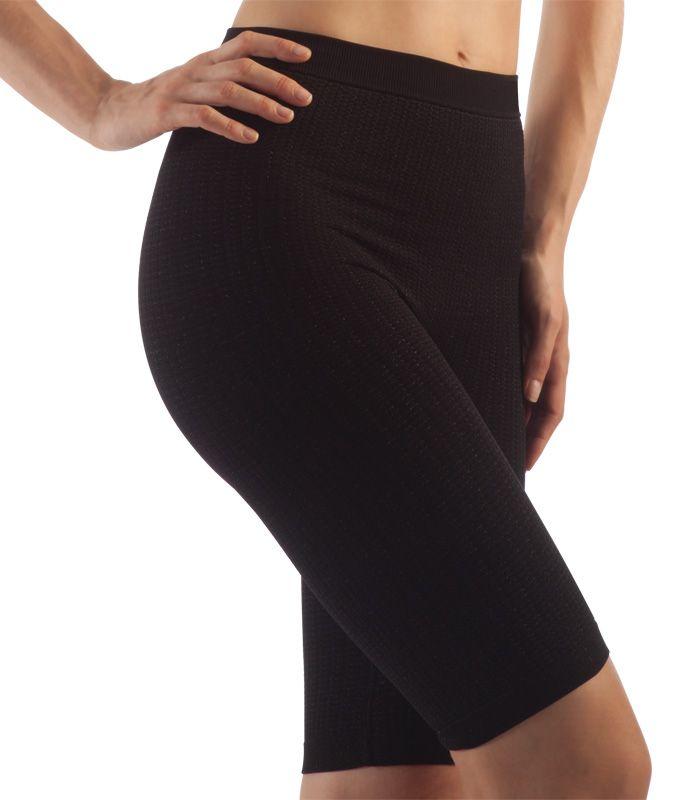 FarmaCell Masážní kalhotky nad kolena, stříbrné vlákno Barva: Černá, Velikost: M/L