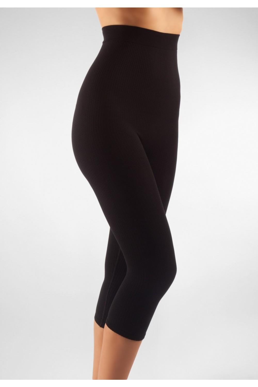 FarmaCell Masážní kalhotky pod kolena s vysokým pasem Barva: Černá, Velikost: S/M