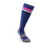 Sportovní kompresní podkolenky - bílá + fialová