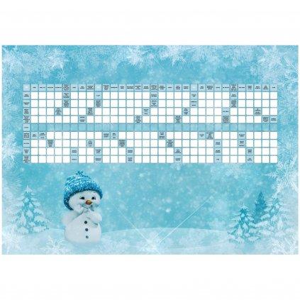 Přání veselých vánoc s křížovkou  + kuličkové pero + dárková obálka