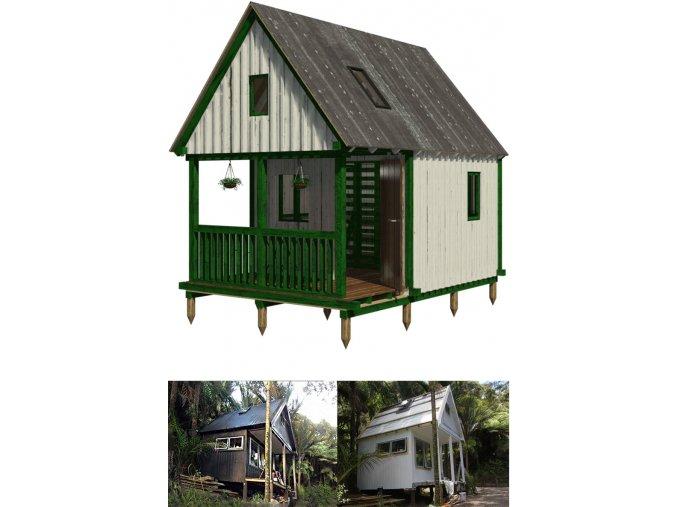 plány na stavbu prázdninové chatky svépomocí postup konstrukce krok za krokem