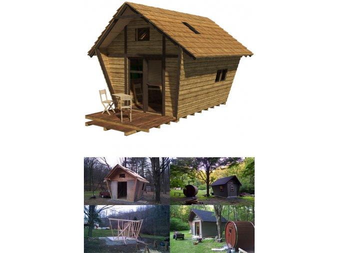 návod na stavbu zahradní chatky s pudickou svépomocí