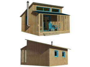 projekt na malý dřevěný domek bez stavebního povolení