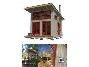 návod na stavbu chaty s terasou pro bydlení