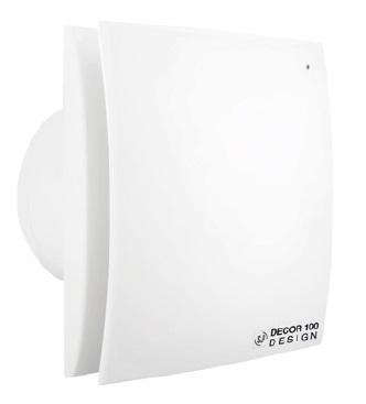DECOR Design axiální ventilátory do koupelny