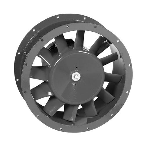 Průmyslové axiální potrubní ventilátory TBT pro vyšší tlak