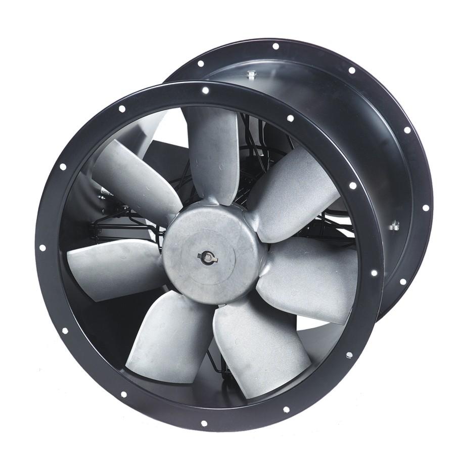 Průmyslové středotlaké (dvojité) axiální potrubní ventilátory TCBx2