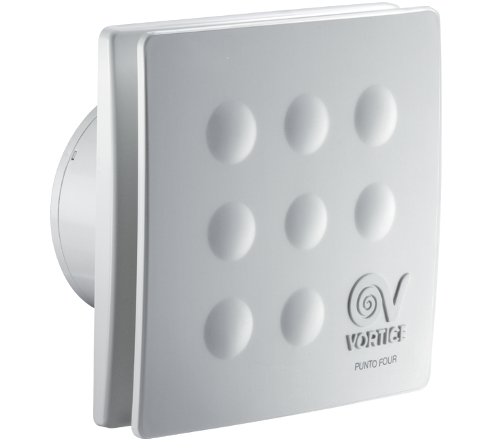 Axiální ventilátory do koupelny nebo na záchod Vortice PUNTO FOUR MFO