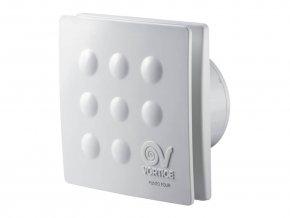 """Vortice PUNTO FOUR MFO 100/4"""" T  Axiální ventilátor do koupelny pro potrubí 100 mm s časovým doběhem"""