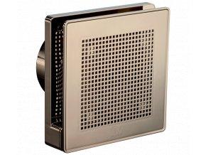 """Vortice Punto Evo Gold ME 100/4"""" LL T  tichý stěnový axiální ventilátor do koupelny s časovým doběhem - zlatá barva"""