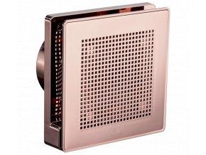 """Vortice Punto Evo Gold ME 100/4"""" LL T  tichý stěnový axiální ventilátor do koupelny s časovým doběhem - mědená barva"""