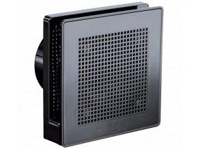 """Punto Evo Gold ME 100/4"""" LL T tichý stěnový axiální ventilátor do koupelny s časovým doběhem - tmavě chromová barva"""