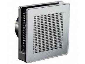 """Punto Evo Gold ME 100/4"""" LL T tichý stěnový axiální ventilátor do koupelny s časovým doběhem - světle chromová barva"""