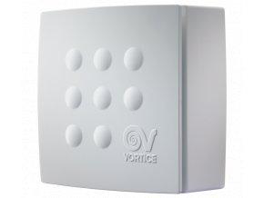 Vortice Quadro MICRO 100 T ES  úsporný stěnový radiální ventilátor do koupelny s EC motorem a časovým doběhem