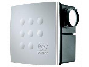 Vortice Quadro MICRO 100 I T ES  úsporný radiální ventilátor do koupelny k zabudování do podhledu s EC motorem a časovým doběhem