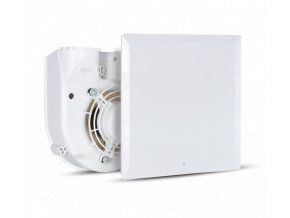 QE 100/60 LL TP HCS  Radiální ventilátor do koupelny VORT QUADRO EVO dvouotáčkový Qv=60/100m3/h Ps=343/353Pa s hygrostatem (čidlem vlhkosti)