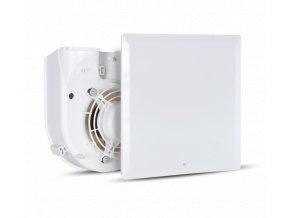 Vortice QE 100/60 LL TP HCS  Radiální ventilátor do koupelny VORT QUADRO EVO dvouotáčkový Qv=60/100m3/h Ps=343/353Pa s hygrostatem (čidlem vlhkosti)