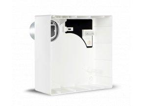 QE-B M  Instalační krabice pro VORT QUADRO EVO pro nástěnnou montáž, se zpětnou klapkou, s vývodem dozadu