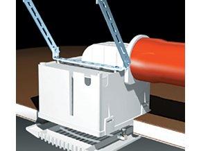 Nastavec pro horizontalni odvod Vort Press s vysokym profilem Ventishop