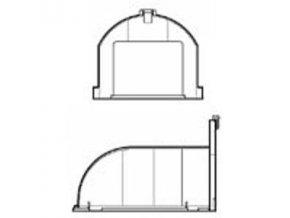 Nastavec pro horizontalni odvod Vort Press s nizkym profilem Ventishop