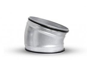 OBL 15° 160 SAFE kovové koleno kulaté s těsněním