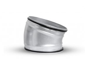 OBL 15° 200 SAFE kovové koleno kulaté s těsněním