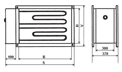 IBE 285/16,5 T elektrický ohřívač