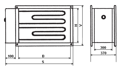 IBE 315/22,5 T elektrický ohřívač