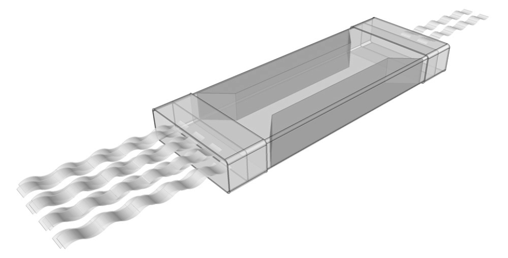 UP-IAA-204x60/1000 tlumič hluku plastový