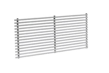 MSO-1.0 400x100 stěnová mřížka 1-řadá, profil 0°
